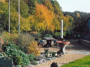Ferienwohnung Vorsatz - Sitzecke im Garten